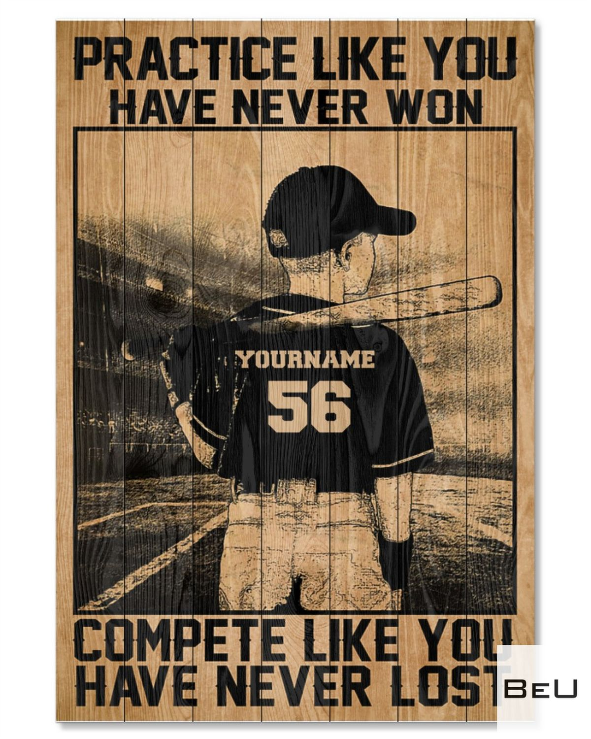 Personalized Practice Like You Have Never Won Basketball Poster