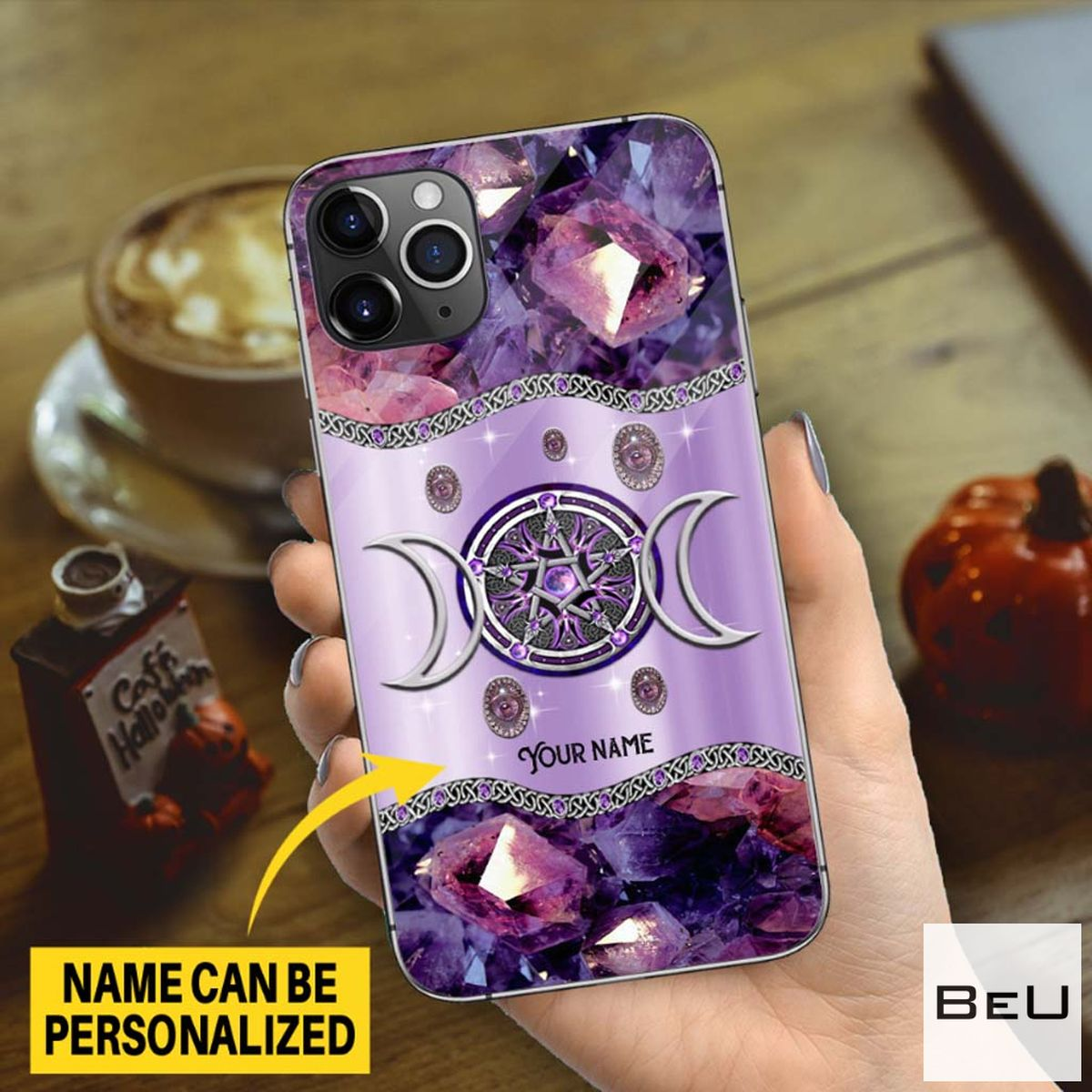 Personalized Purple Triple Moon Witch 3d Phone Case