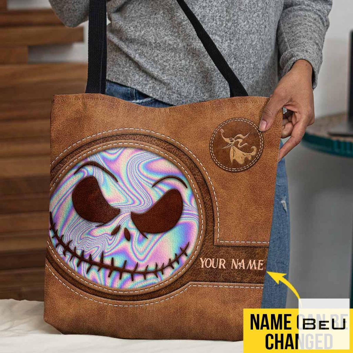 Personalized Skeleton Tote Bag