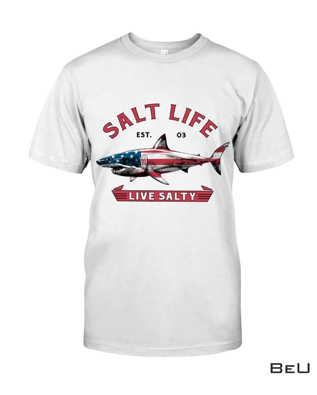 Salt Life Live Salty Shark Shirt