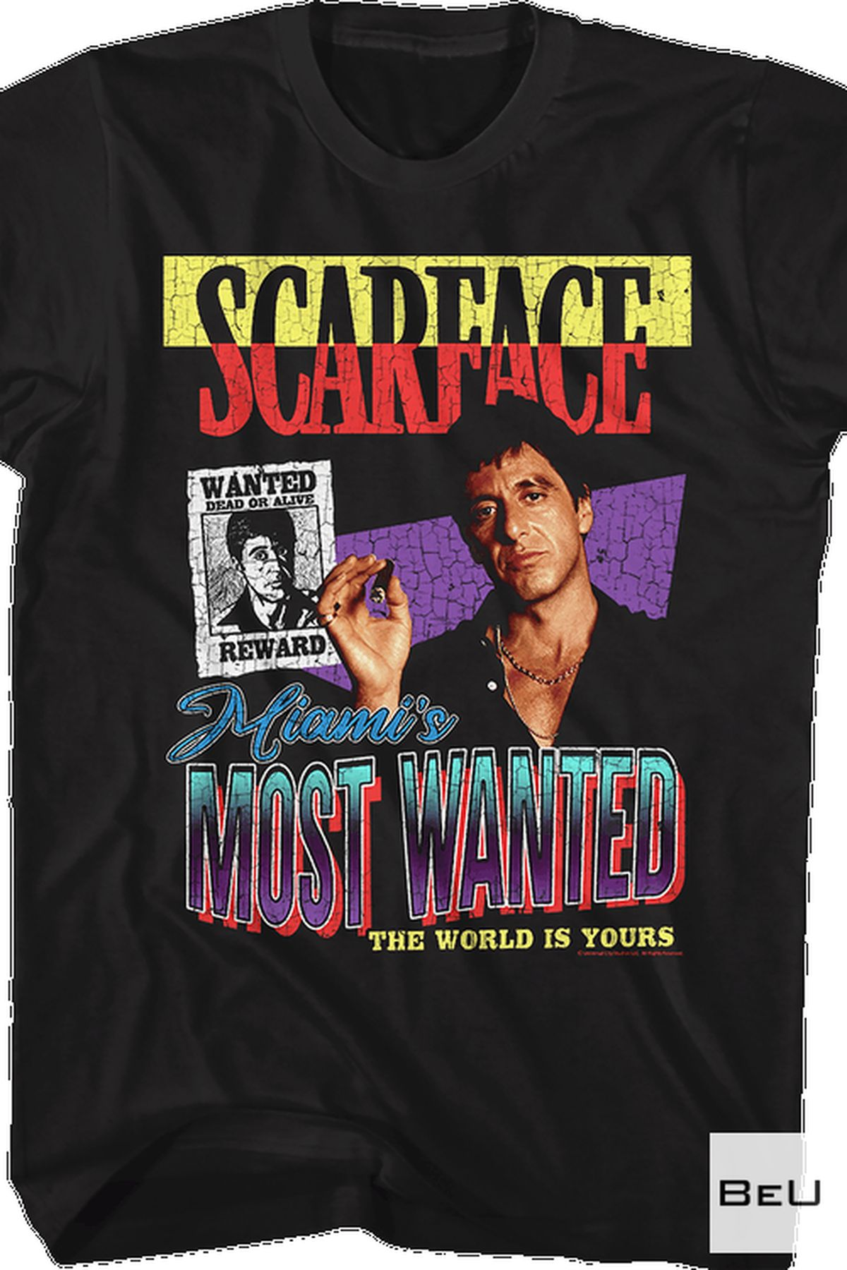Review Scarface Miami's Most Wanted The World Is Yours Shirt