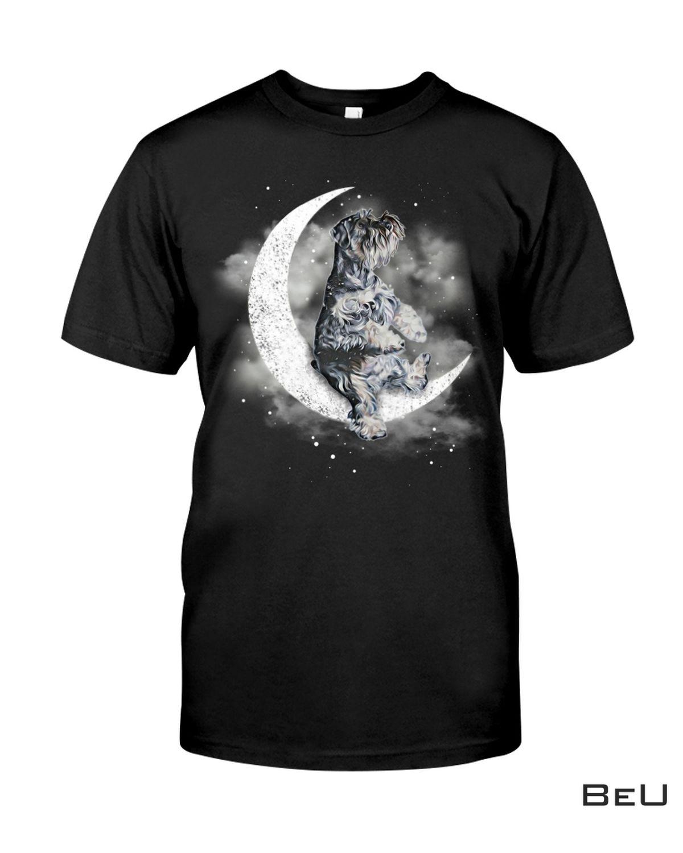 Schnauzer Sit On The Moon Shirt