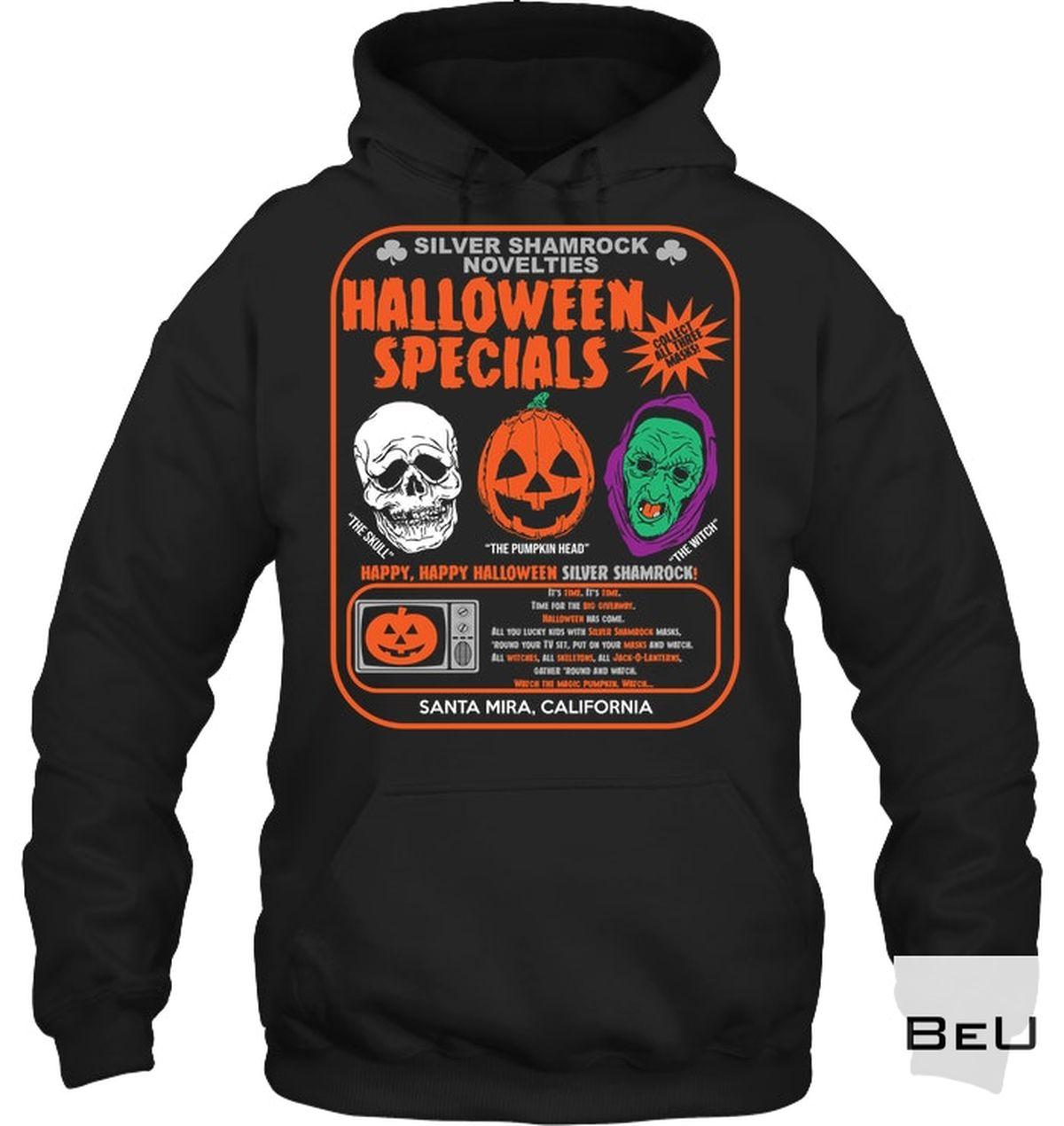 Father's Day Gift Silver Shamrock Novelties Halloween Specials Shirt