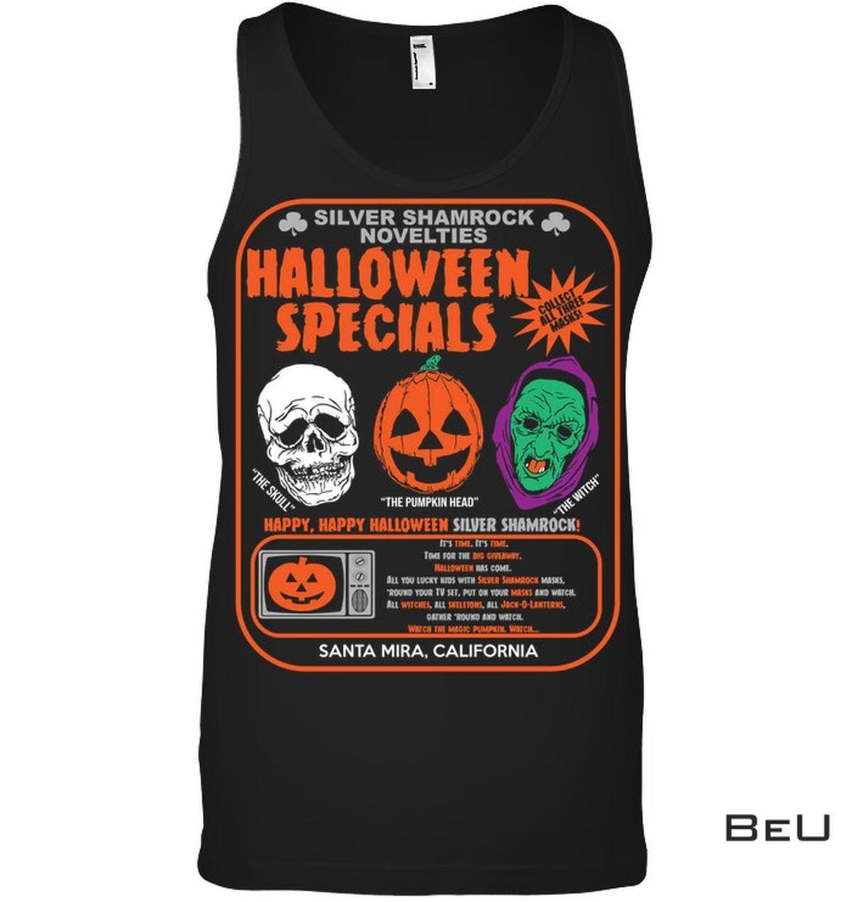 Unique Silver Shamrock Novelties Halloween Specials Shirt