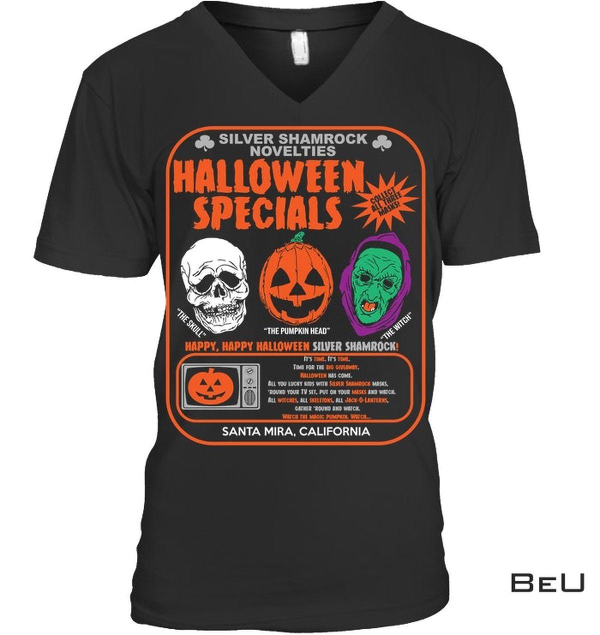 Very Good Quality Silver Shamrock Novelties Halloween Specials Shirt