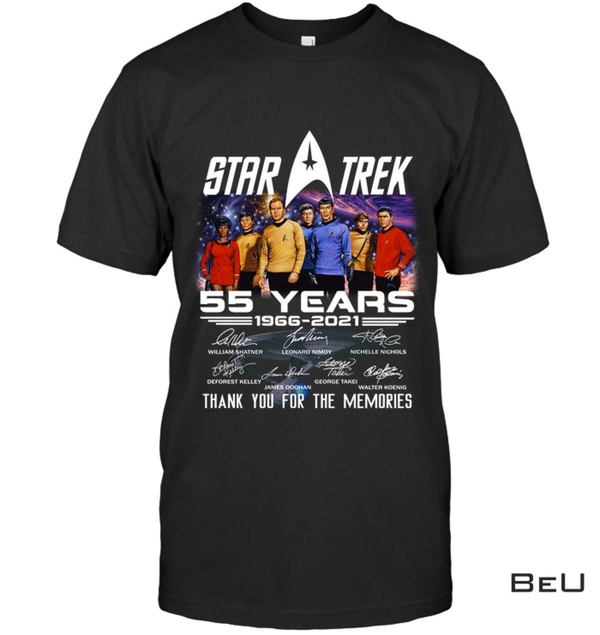 Star Trek 55th Anniversary Thank You For The Memories Shirt, hoodie, tank top
