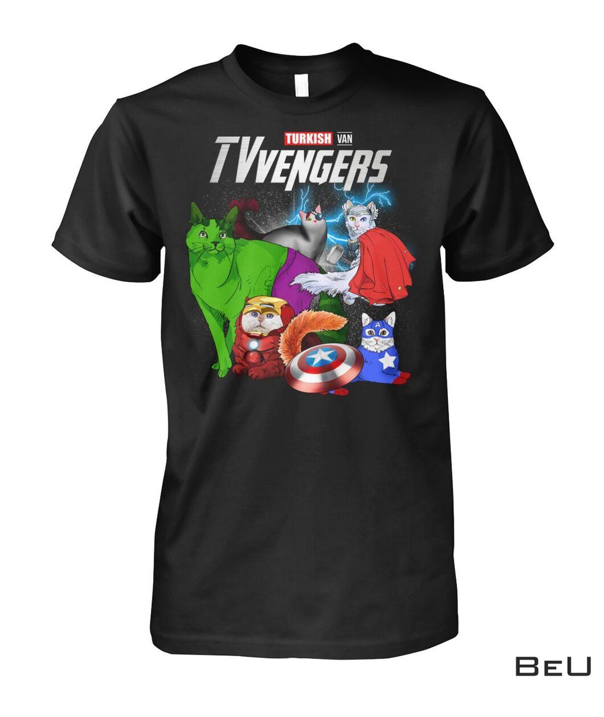 TVvengers Turkish Van Cat Avengers Shirt, hoodie, tank top