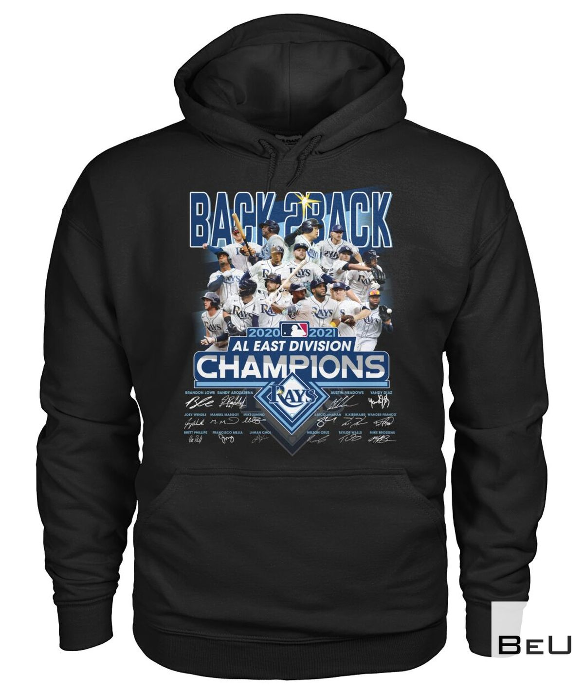 All Over Print Tampa Bay Rays Back 2 Back Al East Division Champions Shirt