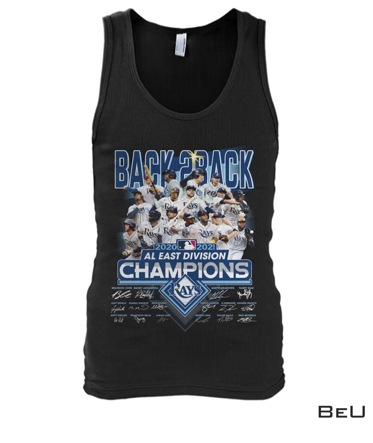 Amazon Tampa Bay Rays Back 2 Back Al East Division Champions Shirt