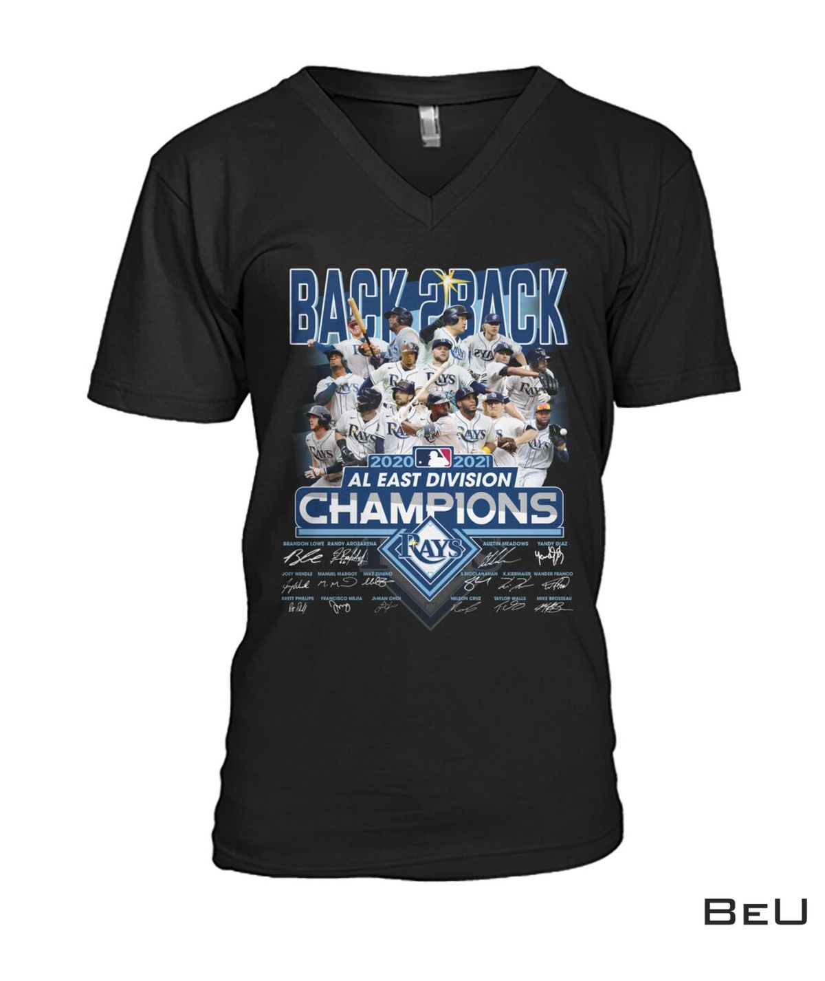 Father's Day Gift Tampa Bay Rays Back 2 Back Al East Division Champions Shirt