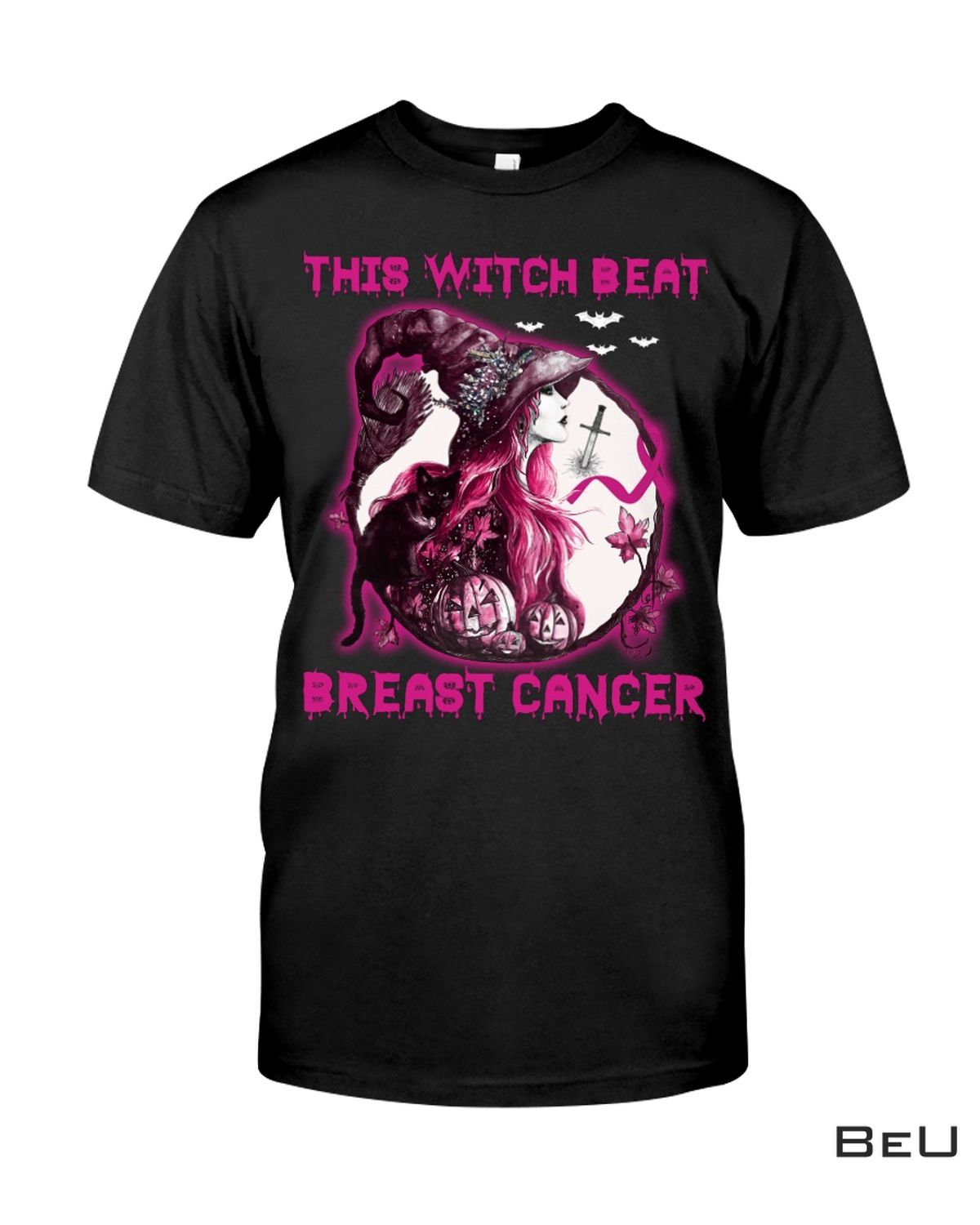 This Witch Beat Breast Cancer Shirt, hoodie, tank top