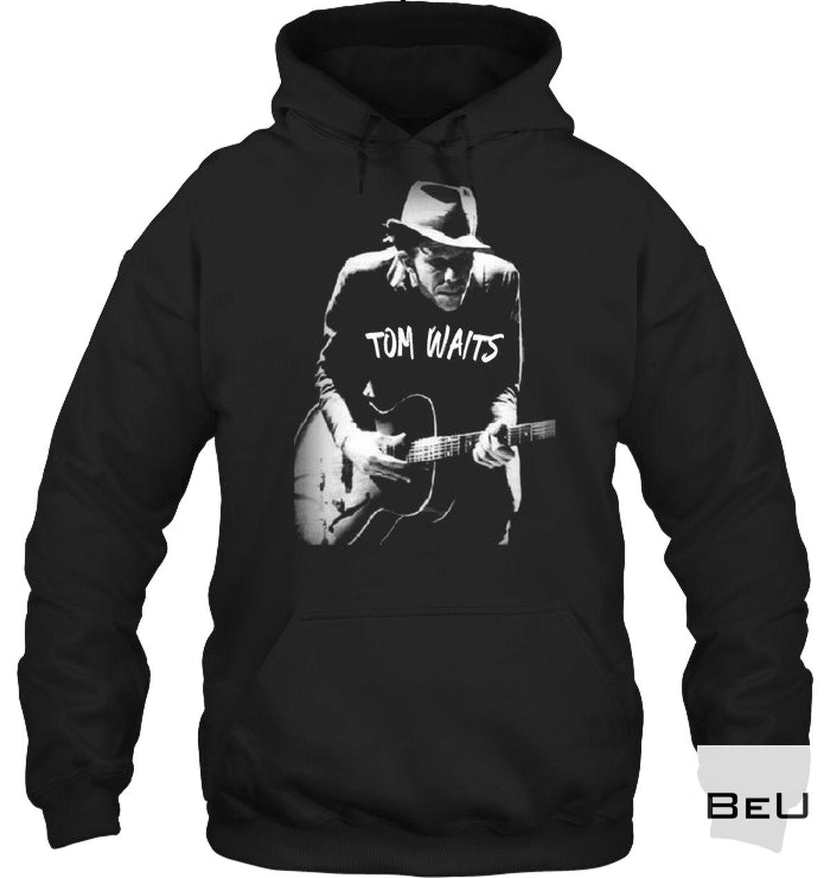 All Over Print Tom Waits Playing Guitar Shirt