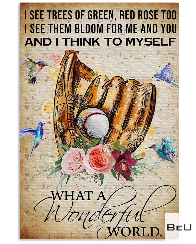What A Wonderful World Baseball Poster