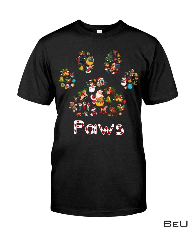 Xmas Dog Paw shirt, hoodie