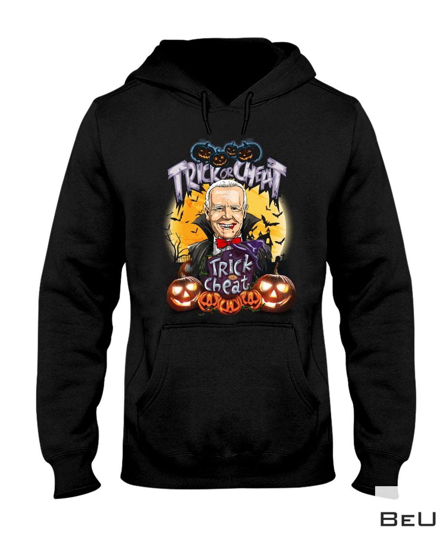 Hot Deal Biden Trick Or Cheat Halloween Shirt, Hoodie, Sweatshirt