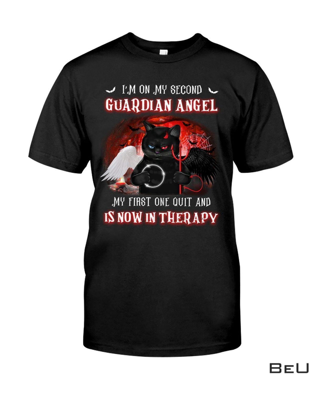Black Cat I'm On My Second Guardian Angel Shirt, hoodie, tank top