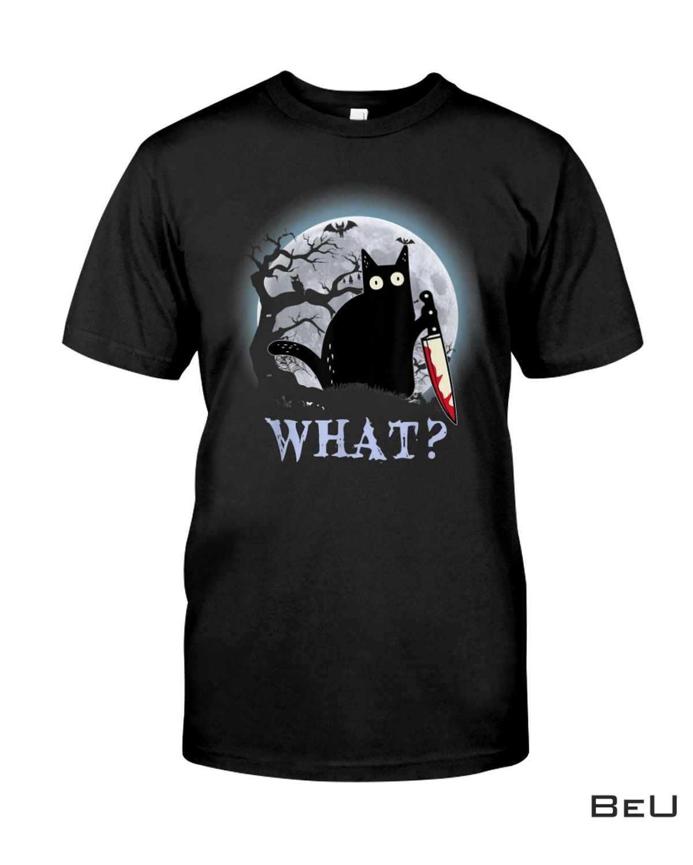 Cat Creepy Killing Halloween What Shirt