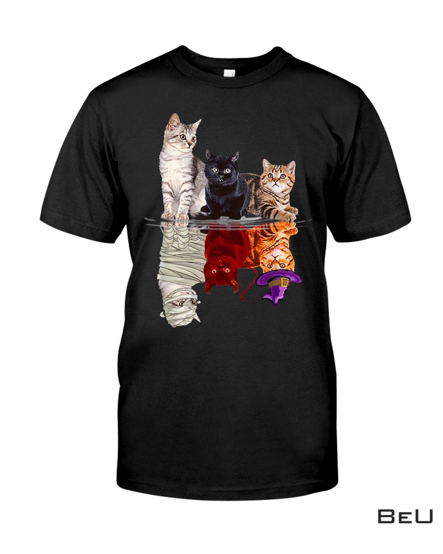 Cats Reflection Mirror Halloween Shirt, Hoodie, Sweatshirt
