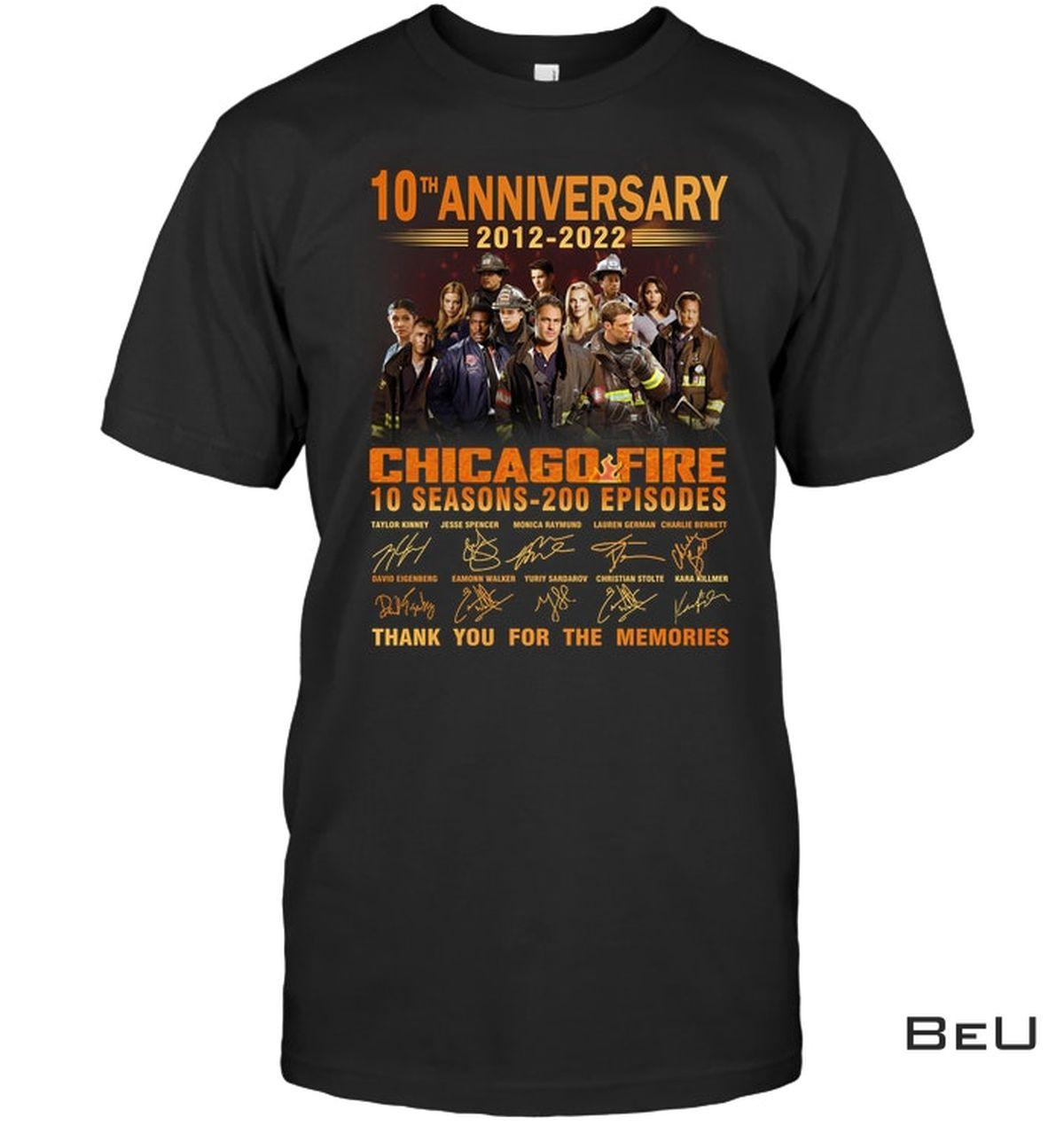 Chicago Fire 10th Anniversary Shirt, hoodie, tank top