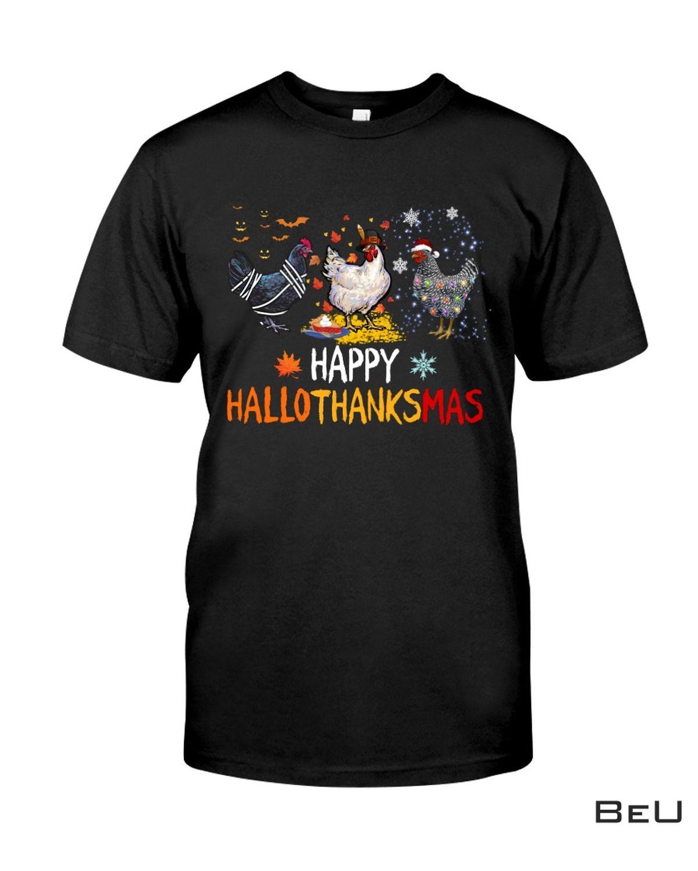 Chicken Halloween - Happy Hallothanksmas Shirt
