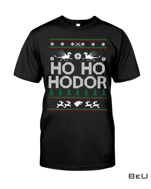 Christmas Ho Ho Hodor GOT Shirt