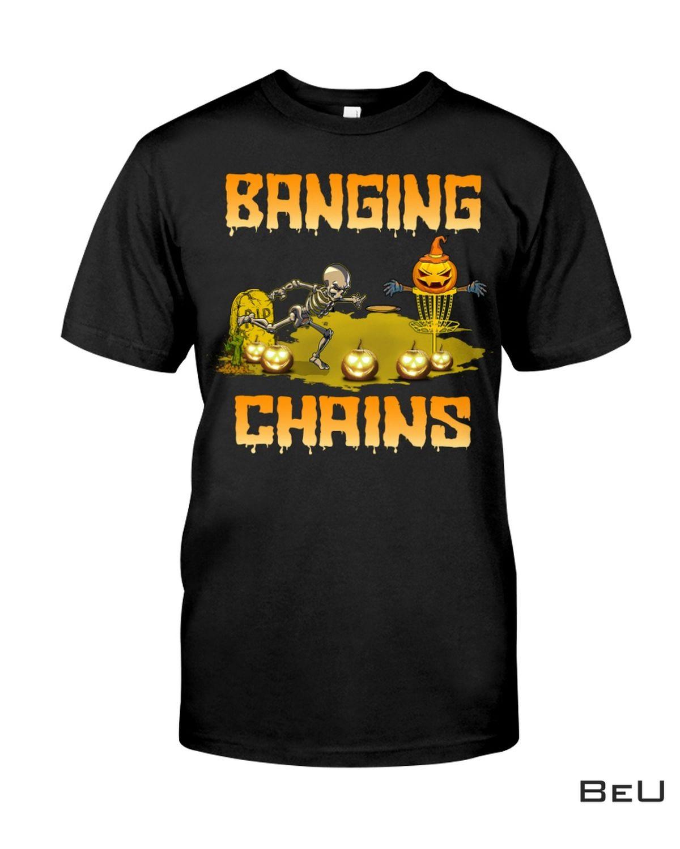 Disc Golf Halloween Banging Chains Shirt, Hoodie, Tank Top