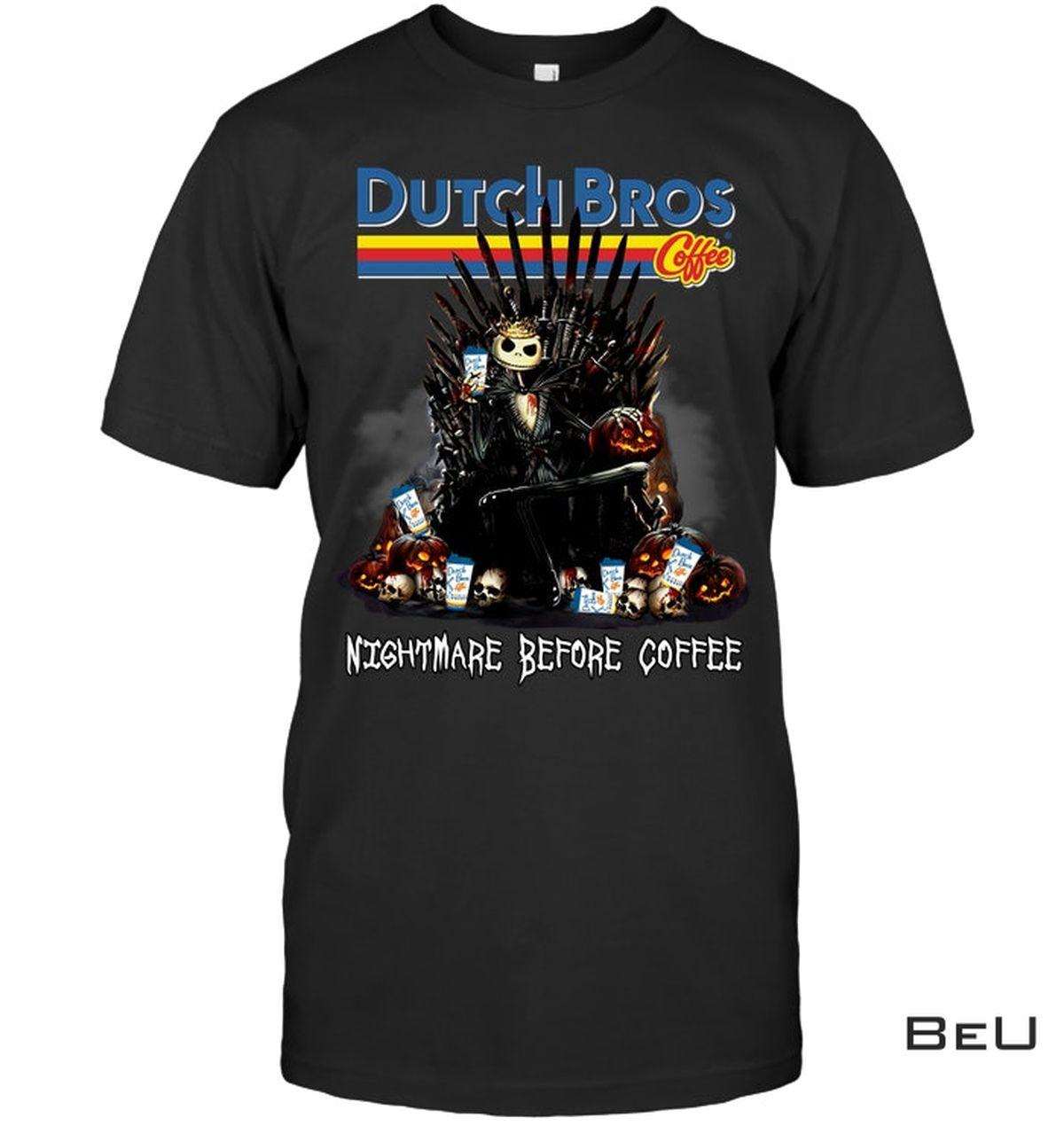 Dutch Bros Nightmare Before Coffee Jack Skellington Shirt, hoodie