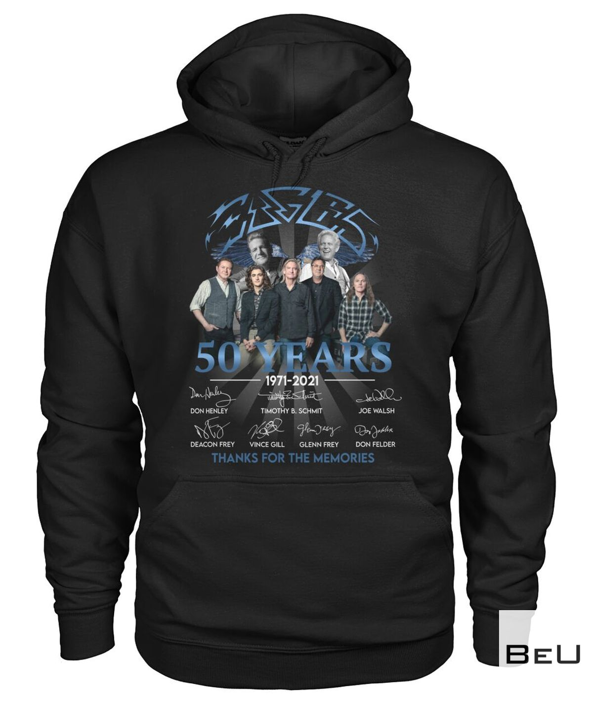 Eagles Rock Band 50 Years Thank You For The Memories Shirt a