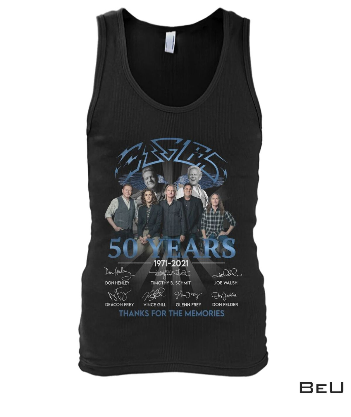 Eagles Rock Band 50 Years Thank You For The Memories Shirt b