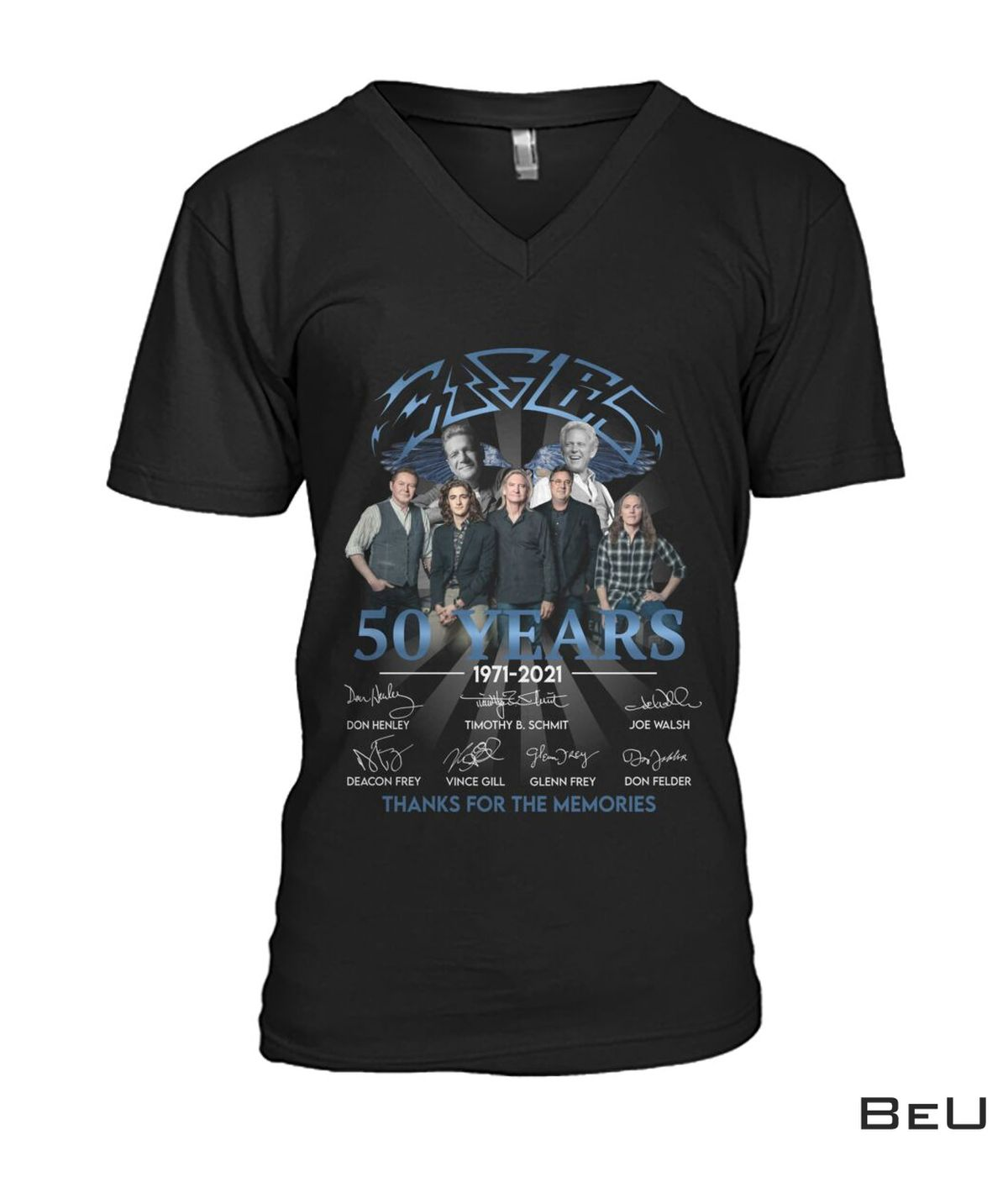 Eagles Rock Band 50 Years Thank You For The Memories Shirt c