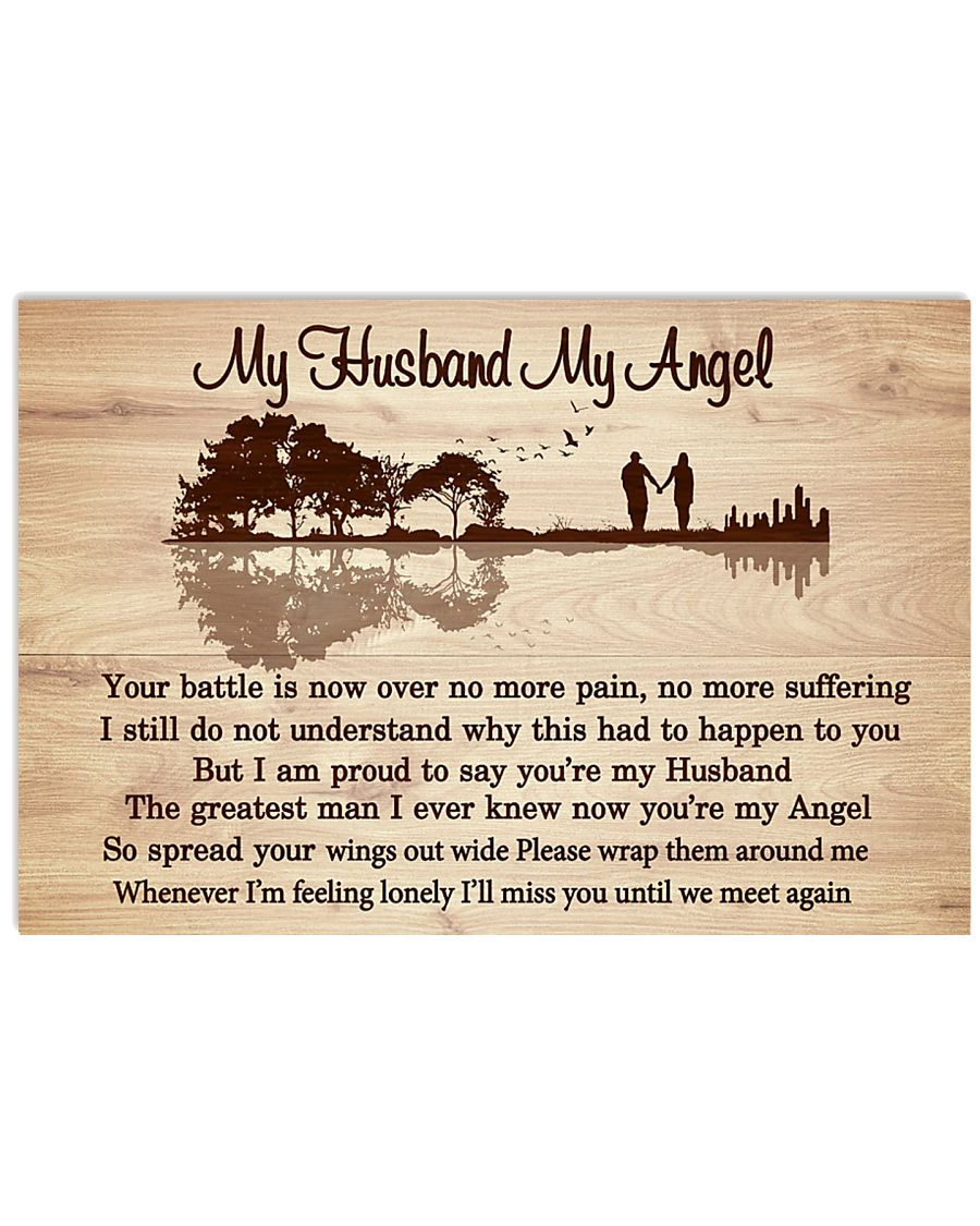 My Husband My Angel Your Battle Is Now Over No More Pain Poster