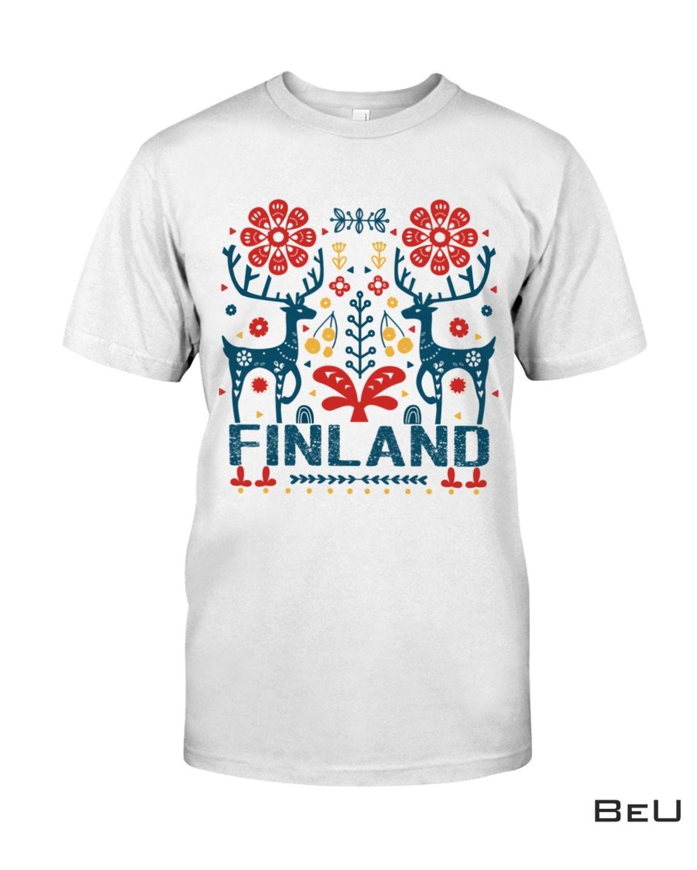 Finland Folk Art Shirt, Hoodie, Sweatshirt