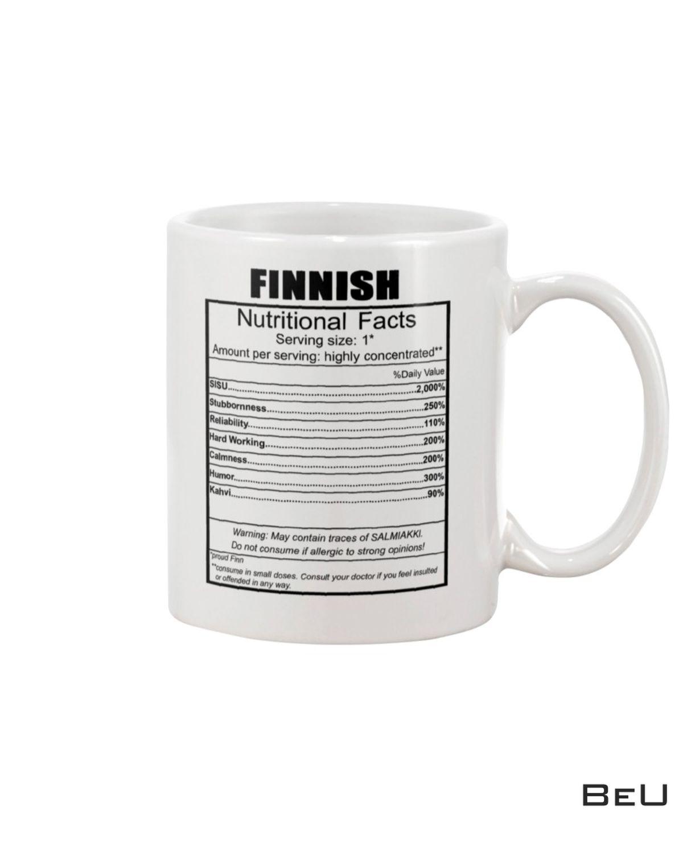 Finnish Nutritional Facts Mug