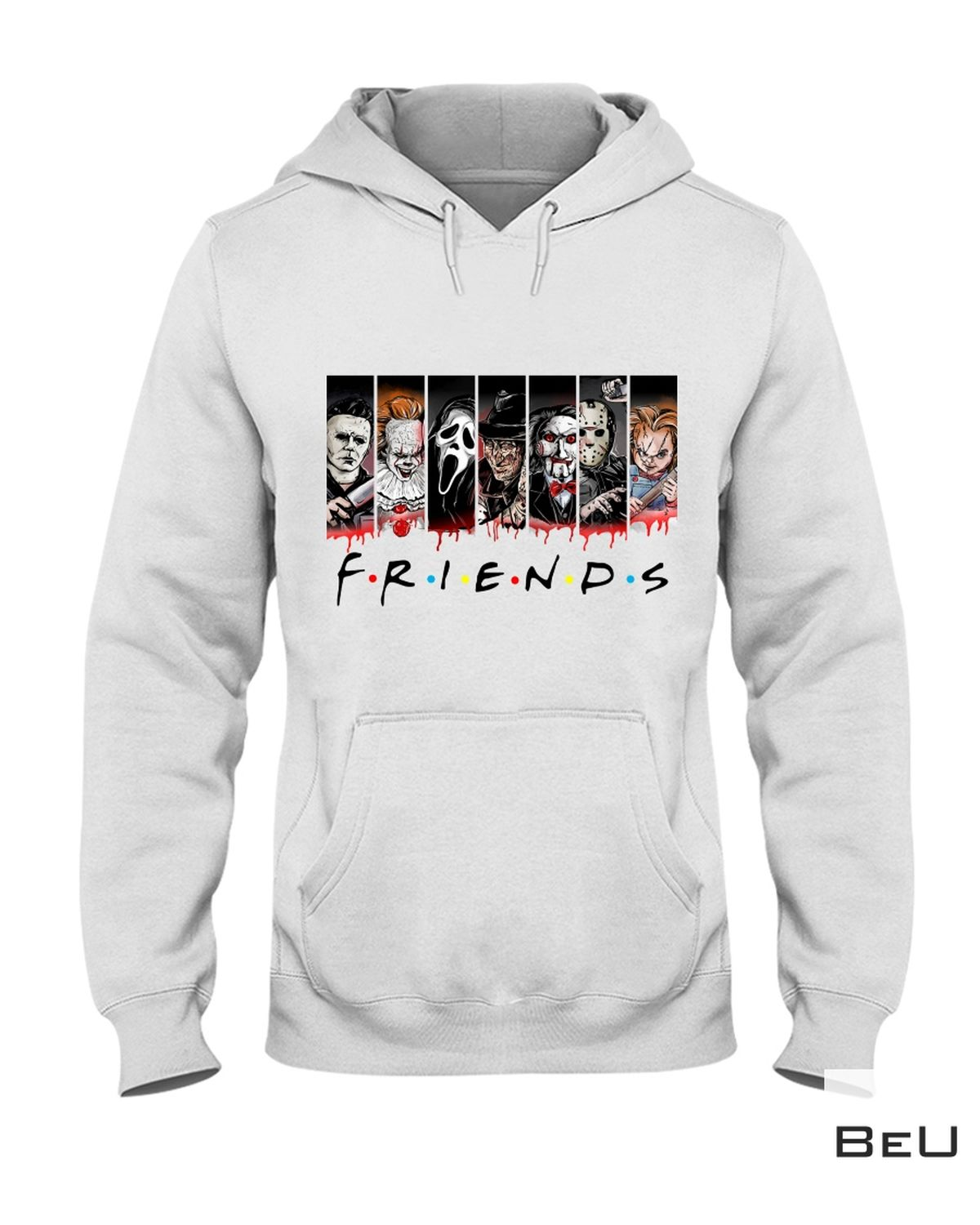 Very Good Quality Friends Horror Movies Characters Shirt