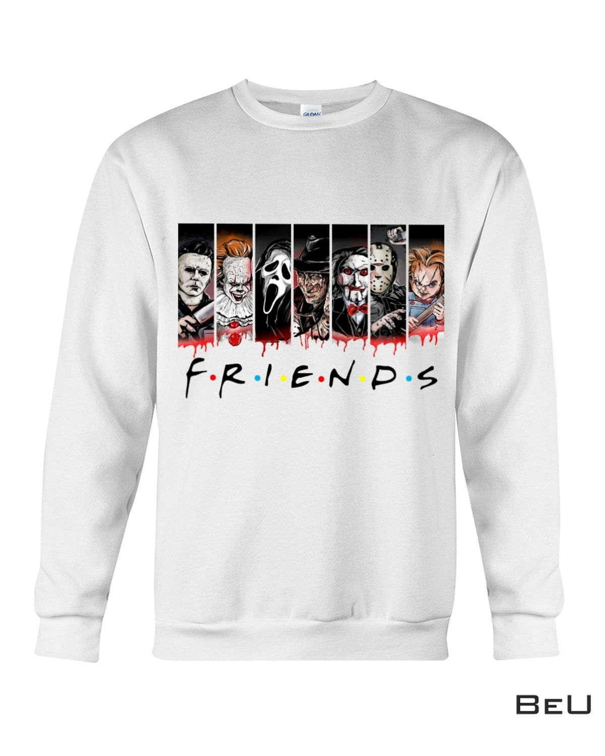 Best Gift Friends Horror Movies Characters Shirt