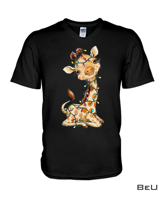 Adult Giraffe Christmas Lovely Shirt