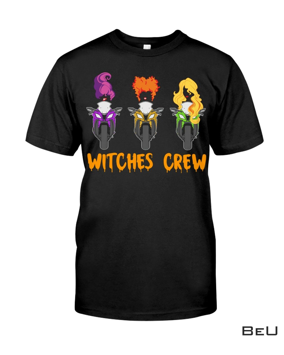Only For Fan Halloween Witches Crew Ride Superbike Shirt