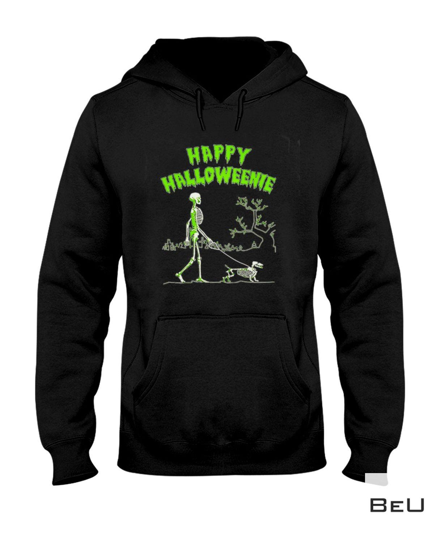 Where To Buy Happy Halloweenie Walking Skeleton With Dachshund Dog Shirt