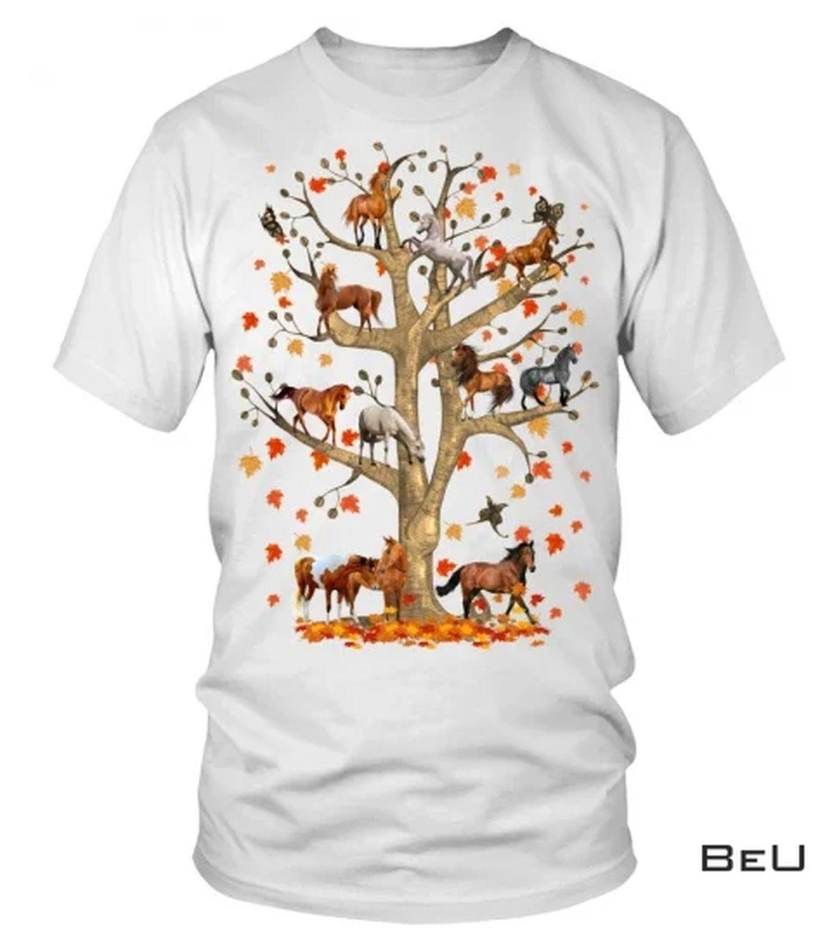 Horse Fall Tree Shirt
