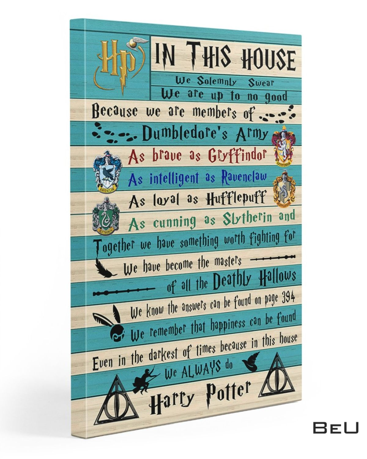 Fantastic I Solemnly Swear That I Am Up To No Good Harry Potter Canvas