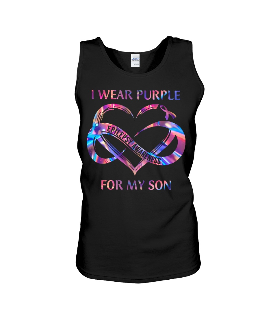 Gorgeous I Wear Purple For My Son Epilepsy Awareness Shirt