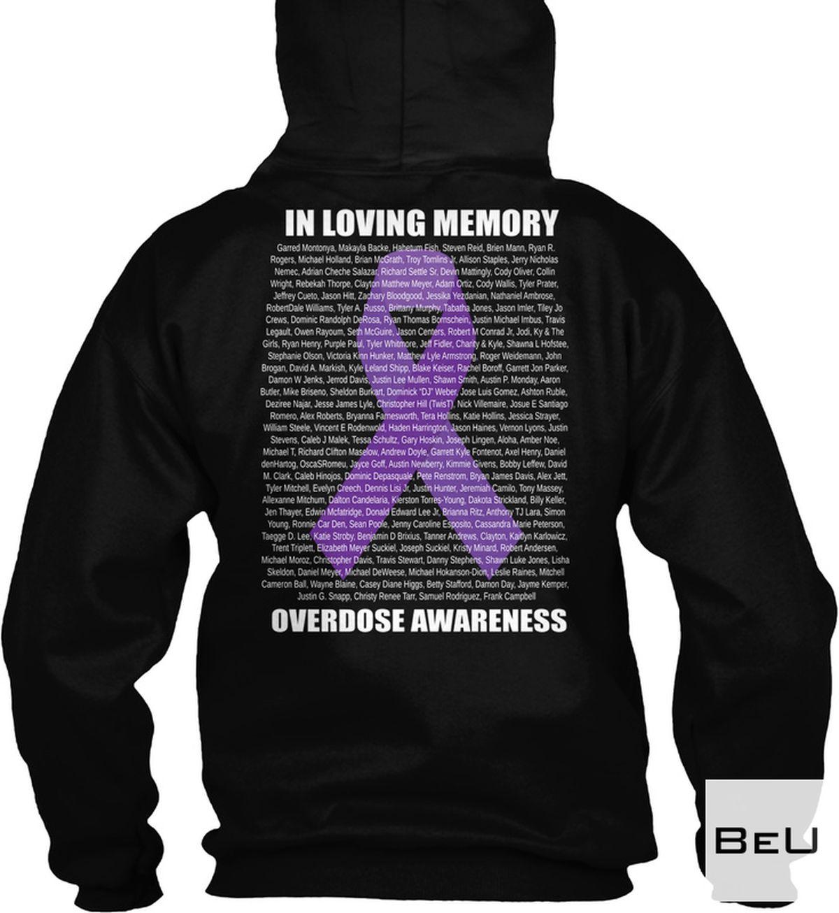 Amazing In Loving Memory Overdose Awareness Shirt