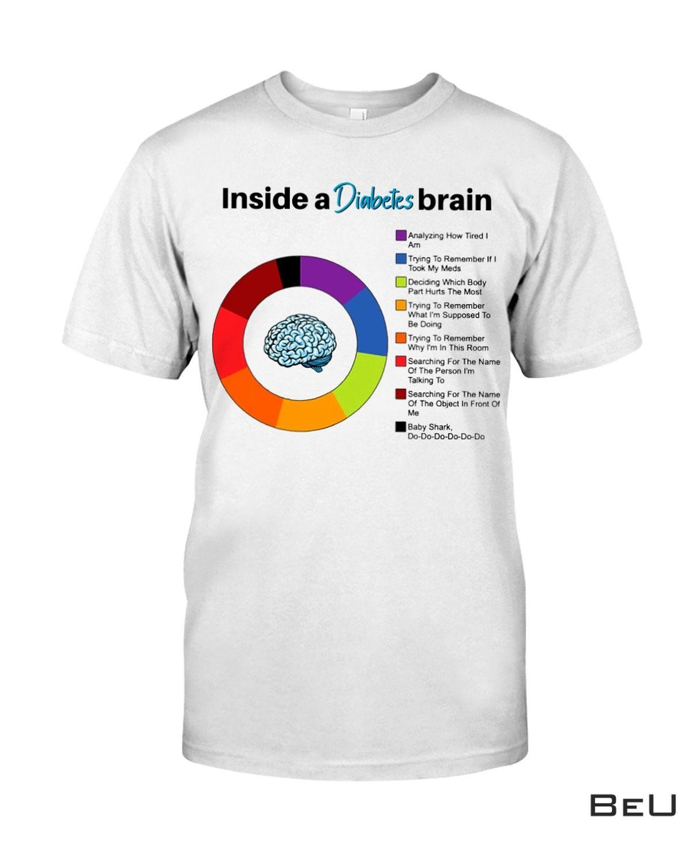 Inside A Diabetes Brain Diabetes Awareness Shirt