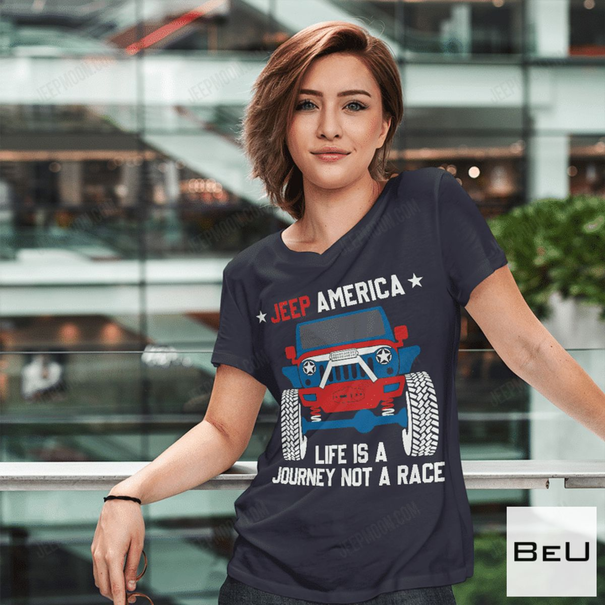 Great Quality Jeep America Life Is A Journey Not A Race Shirt