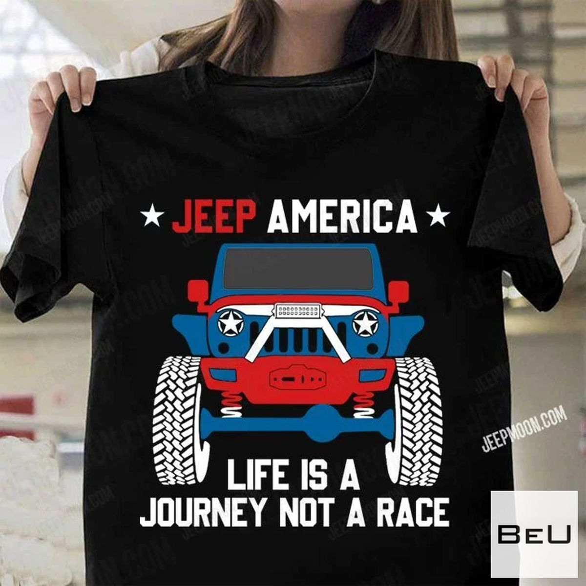 Real Jeep America Life Is A Journey Not A Race Shirt