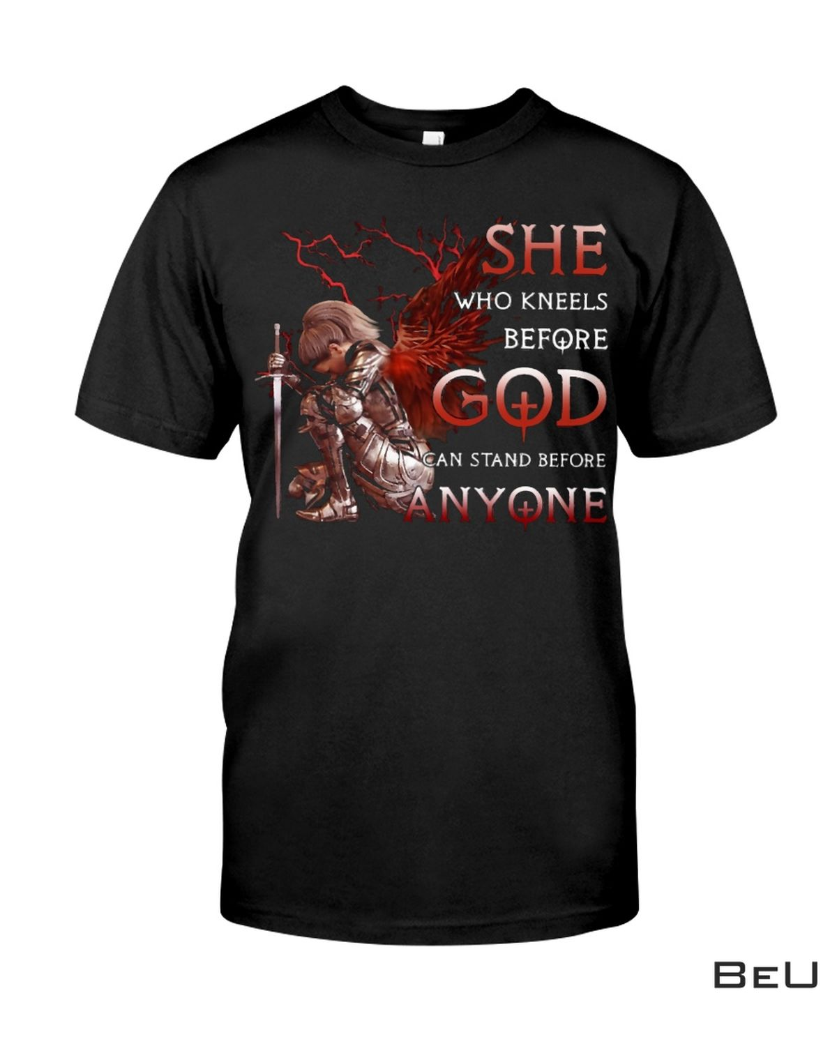 Kneels Before God And Stand Before Anyone Shirt, Hoodie, Tank Top