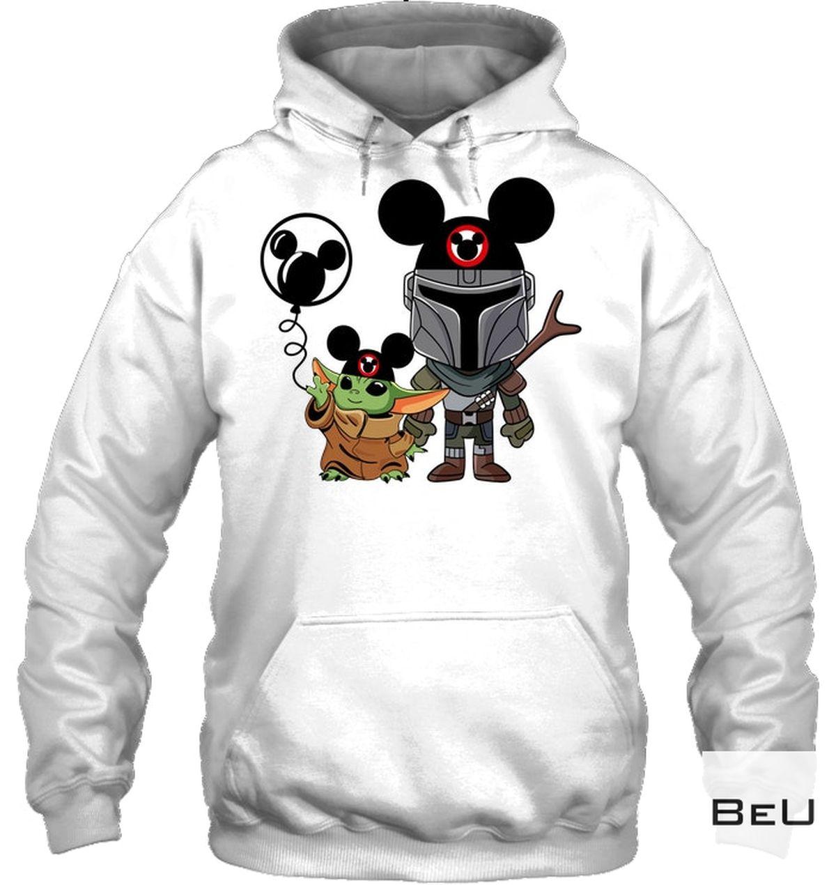 Ships From USA Mickey Mouse Baby Yoda Shirt