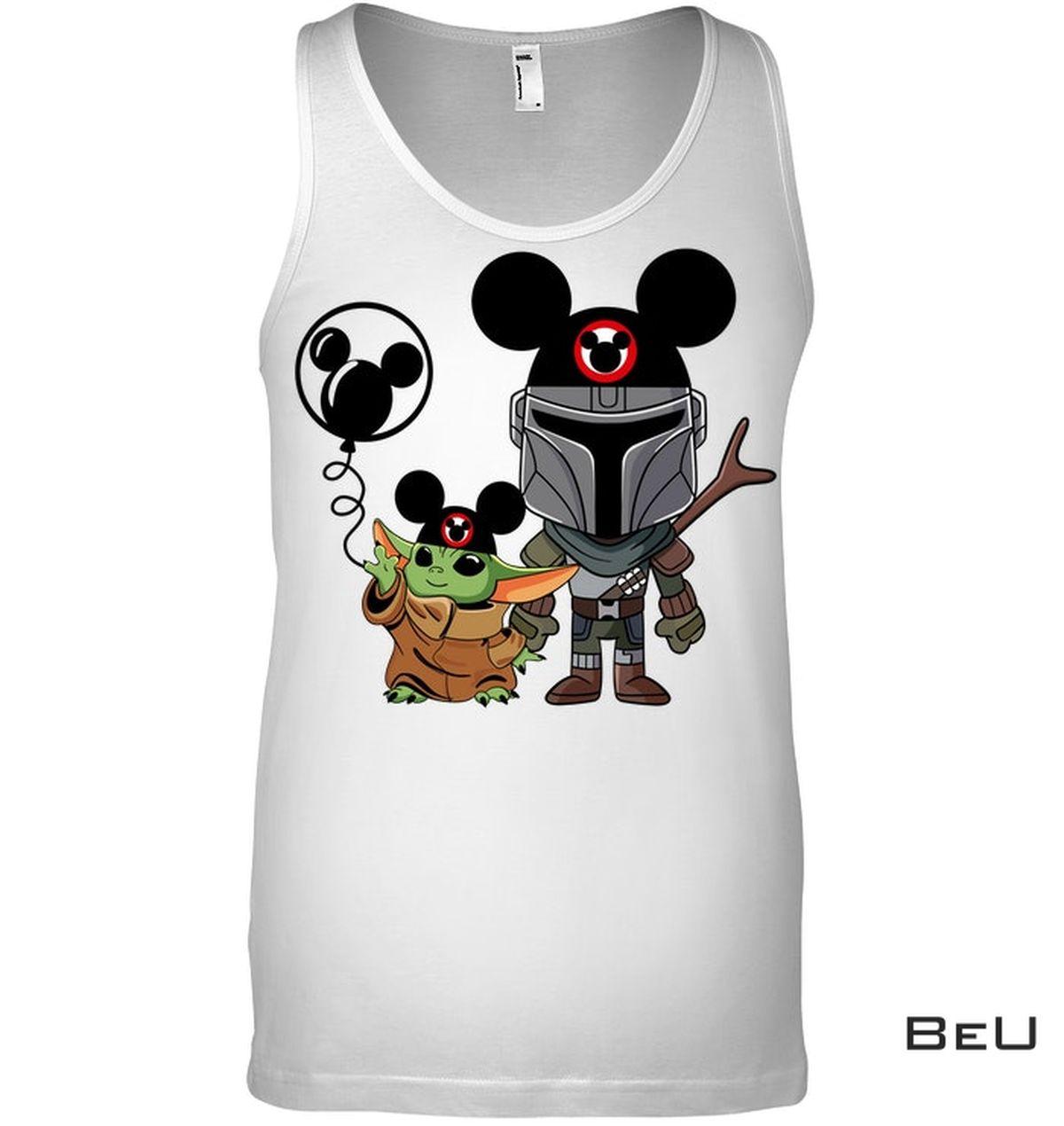 Clothing Mickey Mouse Baby Yoda Shirt