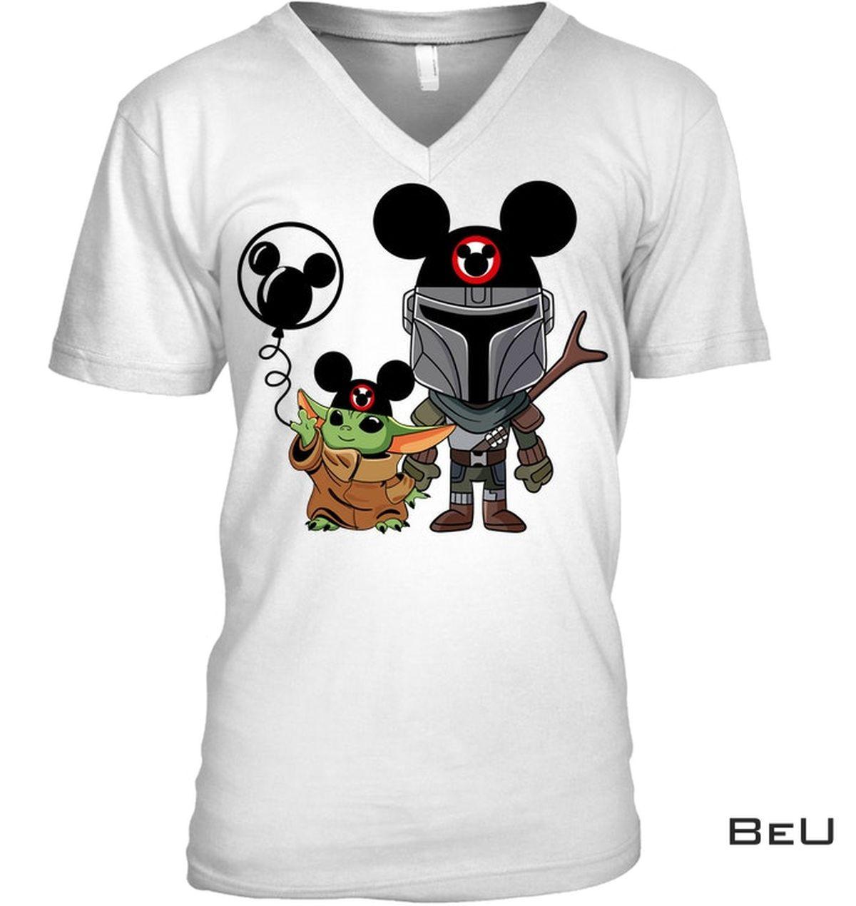 Mickey Mouse Baby Yoda Shirt