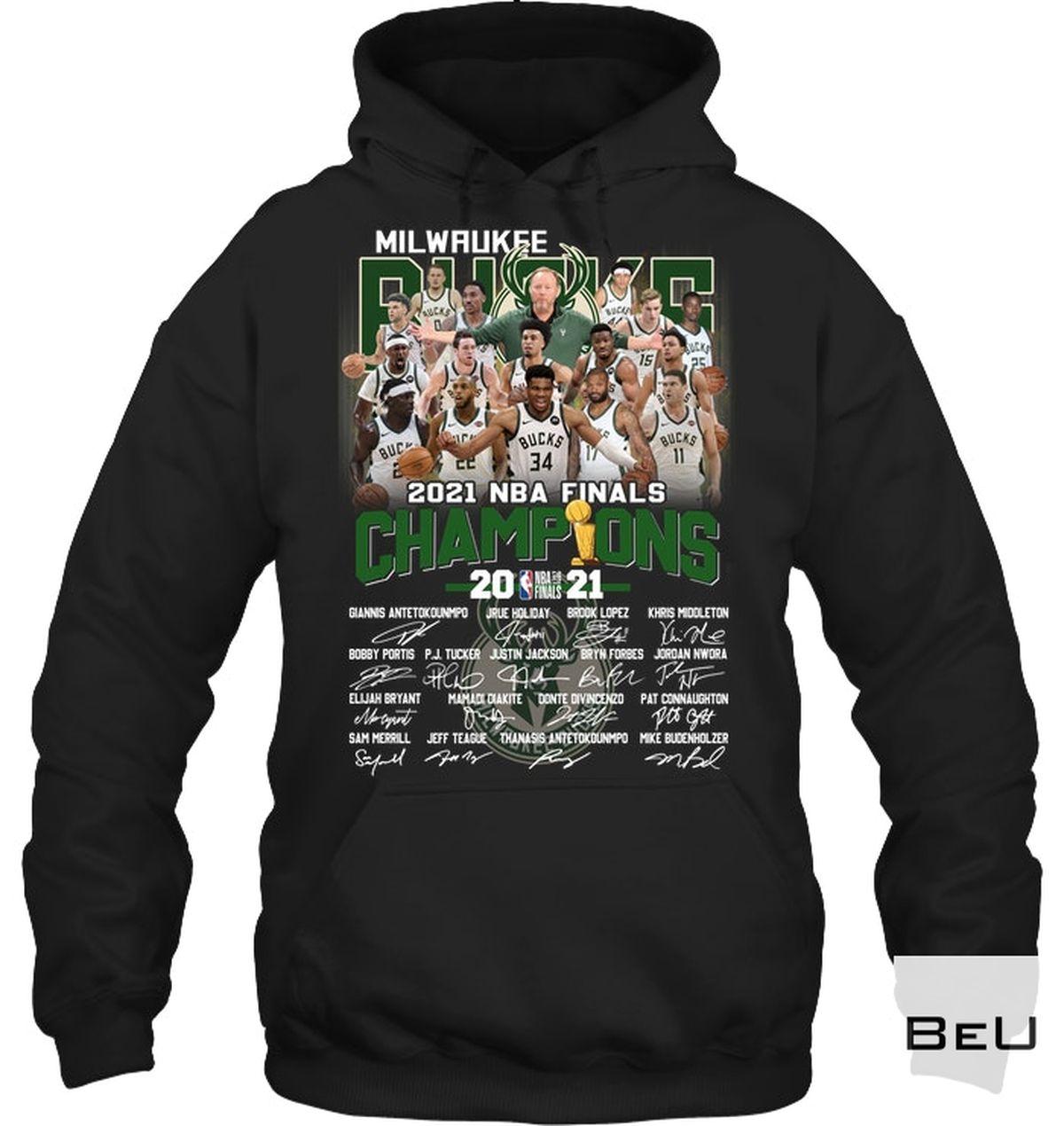 Unisex Milwaukee Brewers 2021 Nba Final Champion Shirt